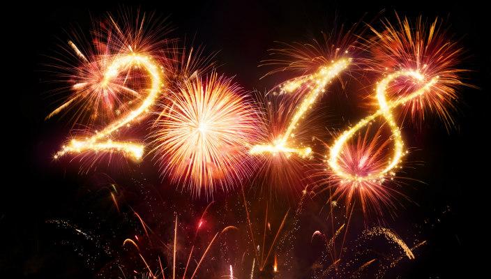 2018 written in fireworks