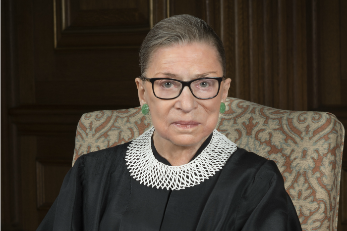 2016 portrait of Justice Ruth Bader Ginsburg