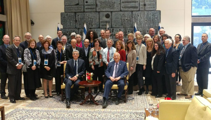 North American board members in Israel