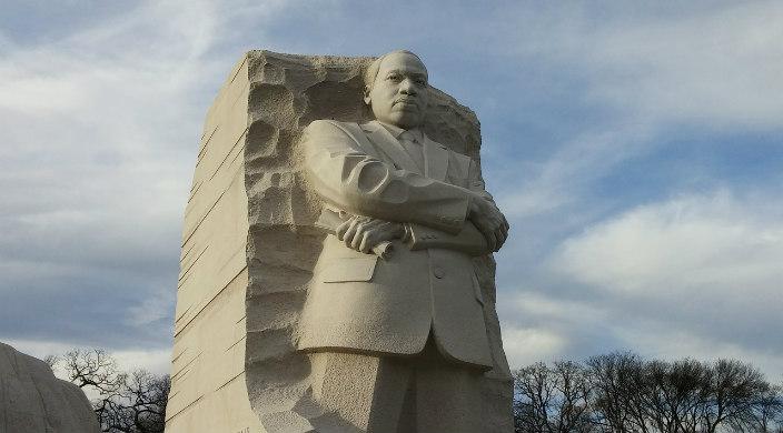 Stone MLK statue in Washington DC