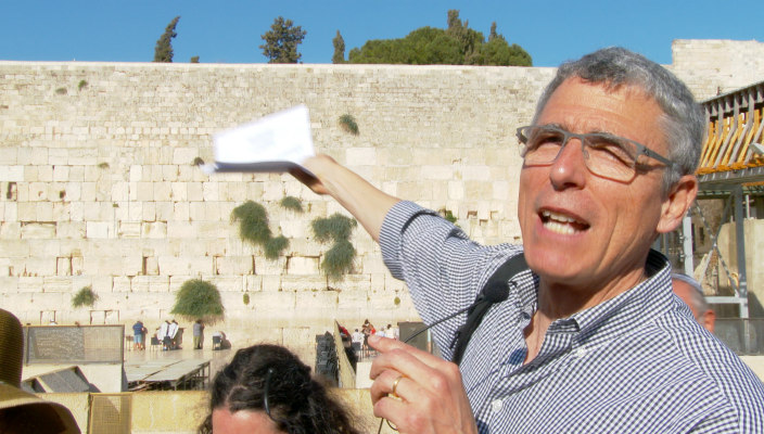 Rabbi Rick Jacobs at the Kotel (Western Wall)