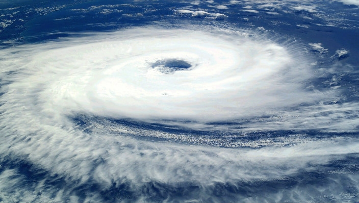 Hurricane as seen from overhead