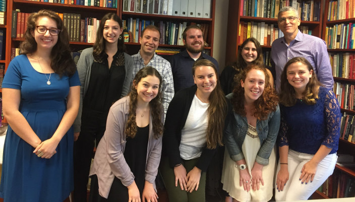 URJ summer interns with Rabbi Rick Jacobs