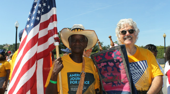 Marchers on the NAACP's Journey for Justice