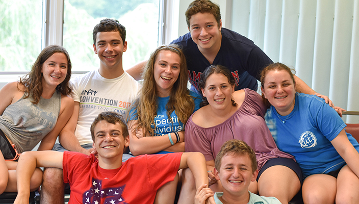 a group of kutz campers smile