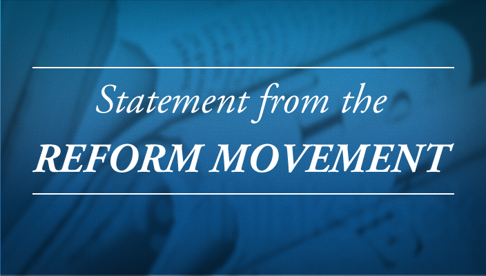 A Statement by the Organizations of the Reform Movement