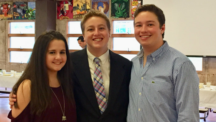 The three Saltzburg teens together at a NFTY-PAR kallah