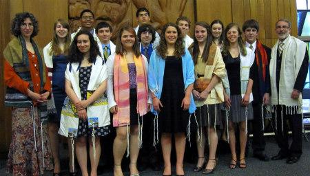Confirmation class, Oak Park Temple- B'nai Abraham Zion