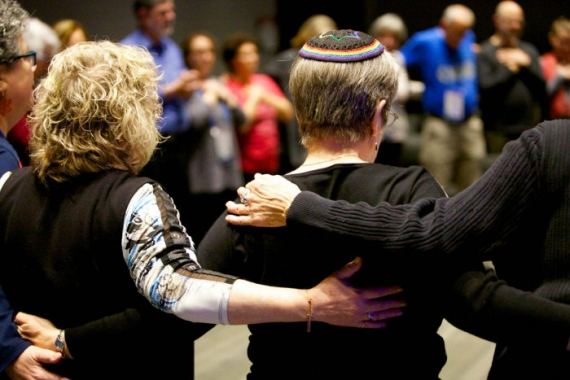 Reform Jews worshiping together