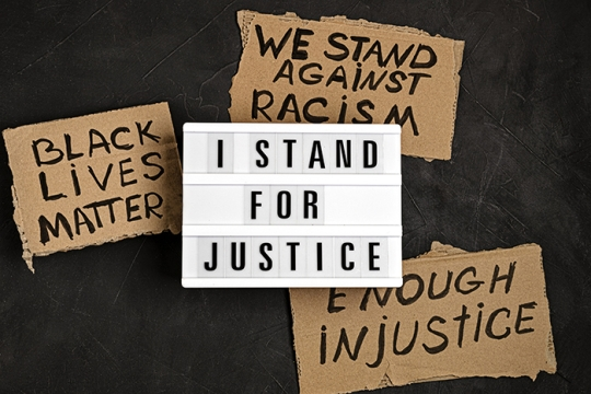 I stand for justice - black lives matter