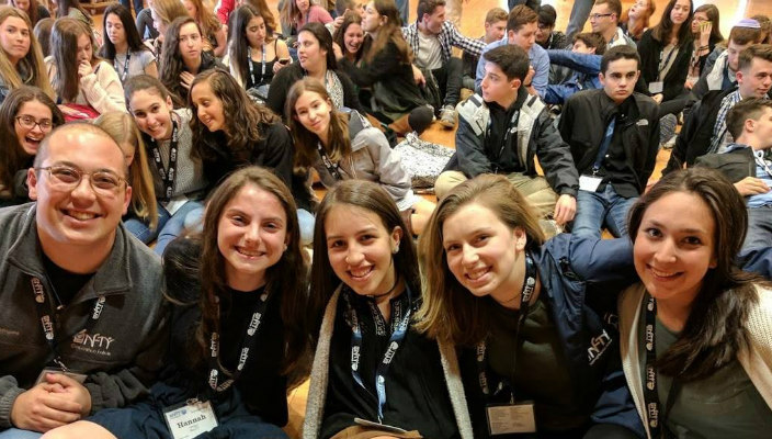 Teen leaders at a Reform Jewish teen gathering